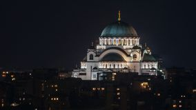 Tempel av helgonet Sava, Belgrade, Serbien royaltyfri fotografi
