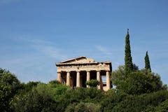Tempel av Hephaestus Royaltyfri Fotografi