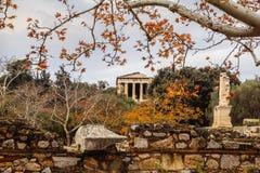 Tempel av Hephaestus royaltyfria bilder