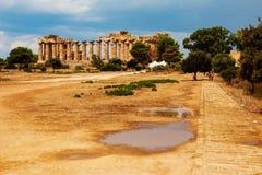 Tempel av Hera Arkivbild