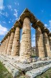 Tempel av Hera den berömda Paestum arkeologiska platsen italy Royaltyfria Bilder
