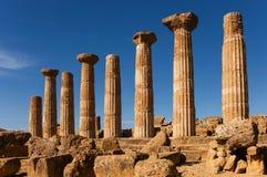 Tempel av Heracles fotografering för bildbyråer