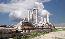 Tempel av Hercules, Amman, Jordanien Royaltyfria Foton