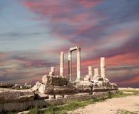 Tempel av Hercules, Amman, Jordanien Arkivfoto