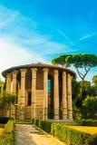Tempel av Hercules Victor, Rome royaltyfri foto