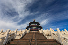 Tempel av himmel från sidosikt Royaltyfria Bilder