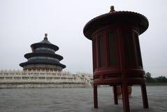 Tempel av himmel i den molniga dagen, Peking Arkivbilder