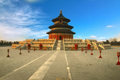 Tempel av himmel i Peking, Kina Arkivbilder