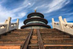 Tempel av himmel mot blå himmel Royaltyfri Foto