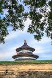 Tempel av himmelsikten från trädgård Arkivbild