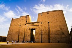 Tempel av Horus i Edfu royaltyfri fotografi