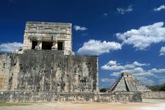 Tempel av Jaguar/Chichenen Itza, Mexico Fotografering för Bildbyråer