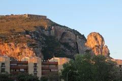 Tempel av Jove, Terracina, Italien Arkivbilder