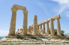 Tempel av Juno, Agrigento, Italien Arkivfoton