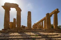 Tempel av Juno i dalen av templen, Agrigento, Italien Arkivbilder