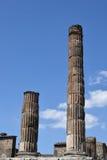 Tempel av Jupiter, Pompeii arkeologisk plats, nr Mount Vesuvius, Italien Royaltyfri Fotografi