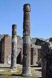Tempel av Jupiter, Pompeii arkeologisk plats, nr Mount Vesuvius, Italien Royaltyfria Foton