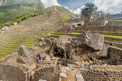 Tempel av kondor Machu Picchu Arkivfoto