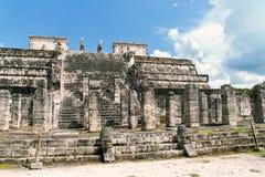 Mayan fördärvar av Chichen Itza, Mexico Arkivbilder