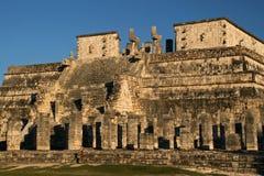 Tempel av krigarna/Chichen Itza, Mexico Fotografering för Bildbyråer