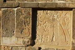 Tempel av krigarna - lättnader/Chichen Itza, Mexico Royaltyfri Fotografi