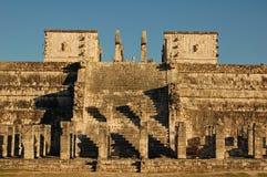 Tempel av krigarna - lättnader/Chichen Itza, Mexico Royaltyfri Bild