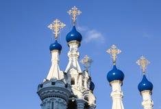 Tempel av Kristi födelsen av den välsignade jungfruliga Maryen moscow russia Royaltyfri Fotografi