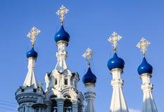 Tempel av Kristi födelsen av den välsignade jungfruliga Maryen moscow russia Arkivfoton