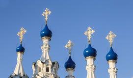Tempel av Kristi födelsen av den välsignade jungfruliga Maryen moscow russia Arkivfoto