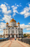 Tempel av Kristus frälsaren i Moscow Arkivbild