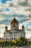 Tempel av Kristus frälsaren i Moscow Fotografering för Bildbyråer