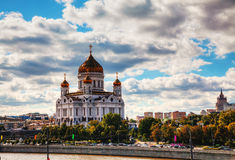 Tempel av Kristus frälsaren i Moscow Arkivfoto
