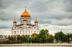 Tempel av Kristus frälsaren i Moscow Royaltyfri Fotografi
