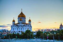 Tempel av Kristus frälsaren i Moscow Royaltyfri Bild