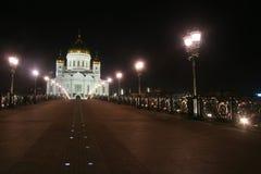 Tempel av Kristus frälsaren i Moskva Royaltyfri Fotografi