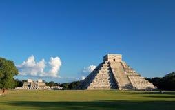 Tempel av Kukulkan/Chichen Itza, Mexico Arkivbilder