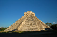 Tempel av Kukulkan/Chichen Itza, Mexico Arkivfoto