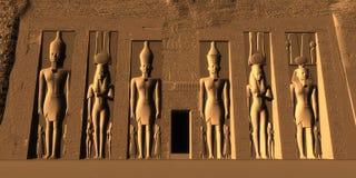 Tempel av Nefertari Arkivfoto
