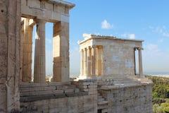 Tempel av Nike Apteros Arkivbild