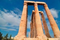 Tempel av olympiska Zeus Arkivbilder