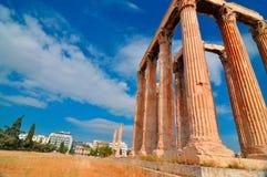 Tempel av olympiska Zeus Royaltyfri Foto