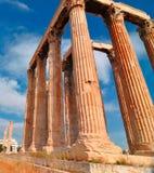 Tempel av olympiska Zeus Royaltyfria Foton