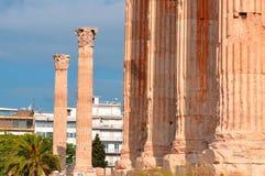 Tempel av olympiska Zeus Arkivfoto