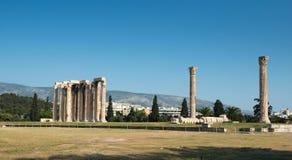 Tempel av olympiska Zeus Fotografering för Bildbyråer