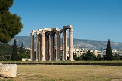Tempel av olympiska Zeus Arkivbild