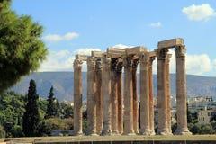 Tempel av olympiska Zeus Royaltyfri Bild