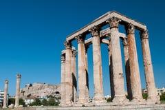 Tempel av olympiska Zeus, Aten Grekland Royaltyfria Foton