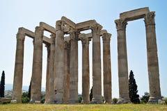 Tempel av olympiska Zeus Athens Greece Arkivbilder