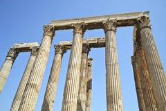 Tempel av olympiska Zeus Athens Greece Royaltyfri Bild