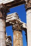 Tempel av olympiska Zeus, detalj, Aten Arkivbild